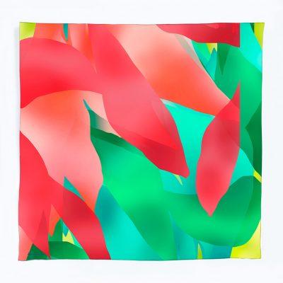 Pañuelo de seda Las hojas del naranjo - Dolors Manrubia