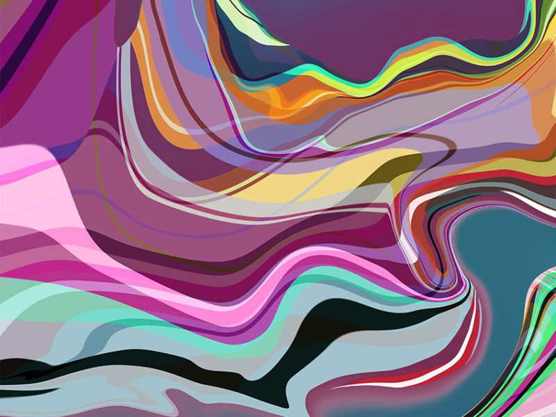 Digital art. Abstract landscapes. Powerful color