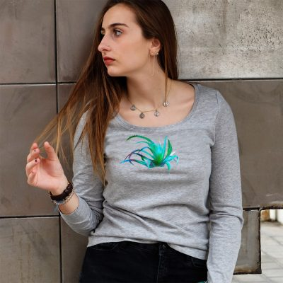 T-shirt long sleeve agave