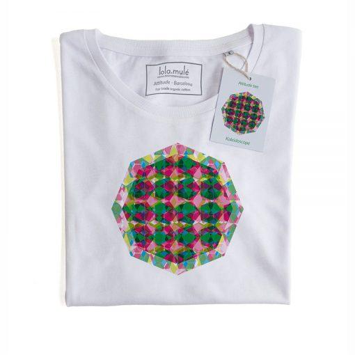 Camiseta Caleidoscopio manga corta blanca - Lola Mulé