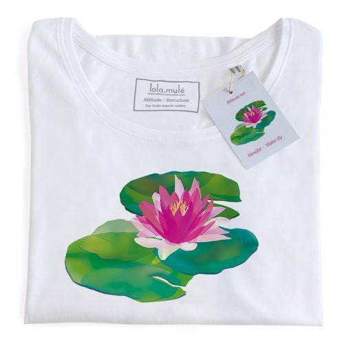 Camiseta Nenúfar manga larga blanca - Lola Mulé