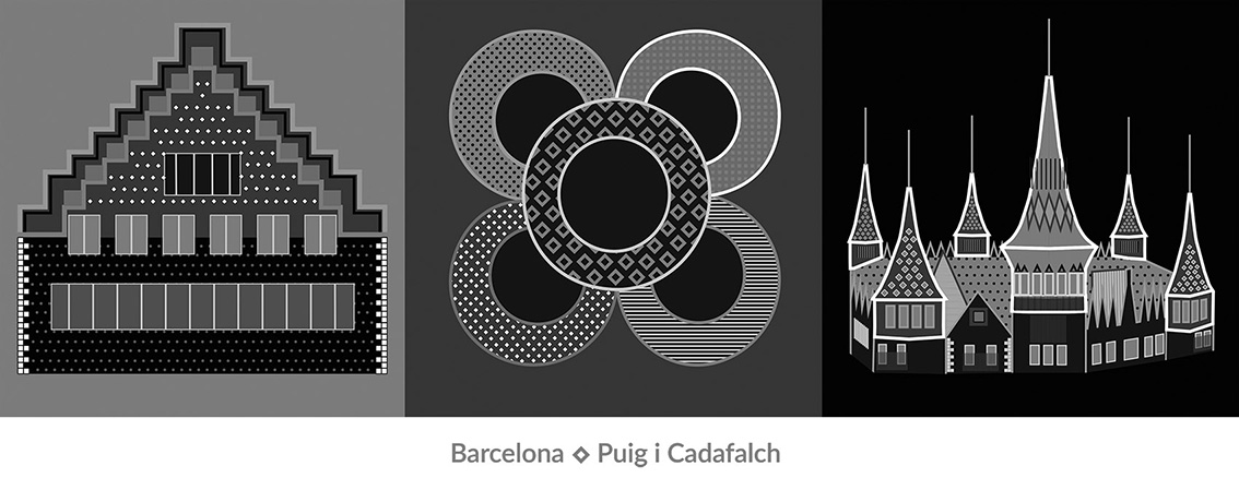 Puig i Cadafach talent award barcelona dolors manrubia, black and white