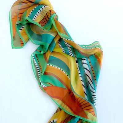 Pañuelo de seda colores de Africa