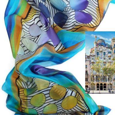 Pañuelo de seda Luz en la Casa Batlló - Lola Mulé