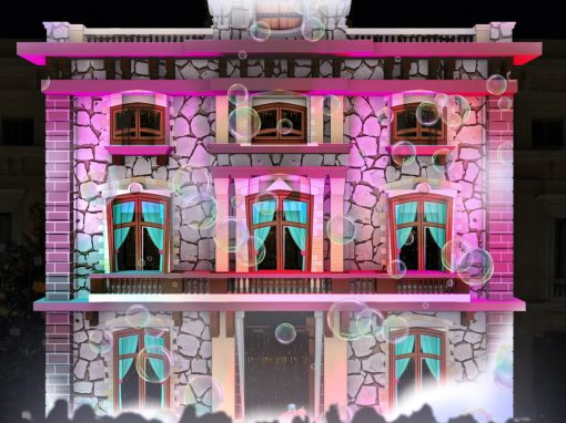 Video mapping on the facade of the L'Hospitalet de Llobregat Town Hall